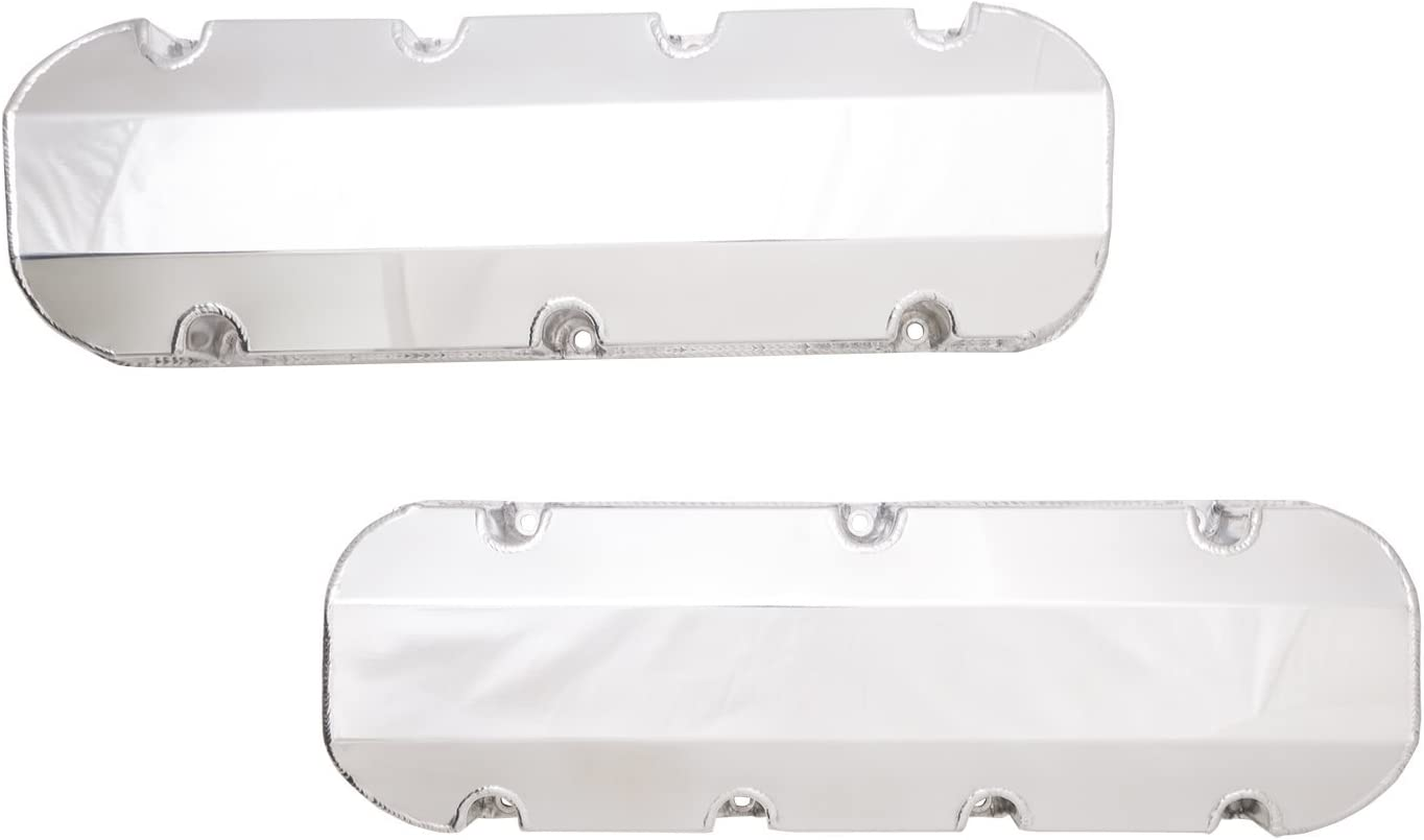 Top Street Performance JM8093-3P Polished Tall Fabricated Racing Valve Cover with Rail Short Bolt
