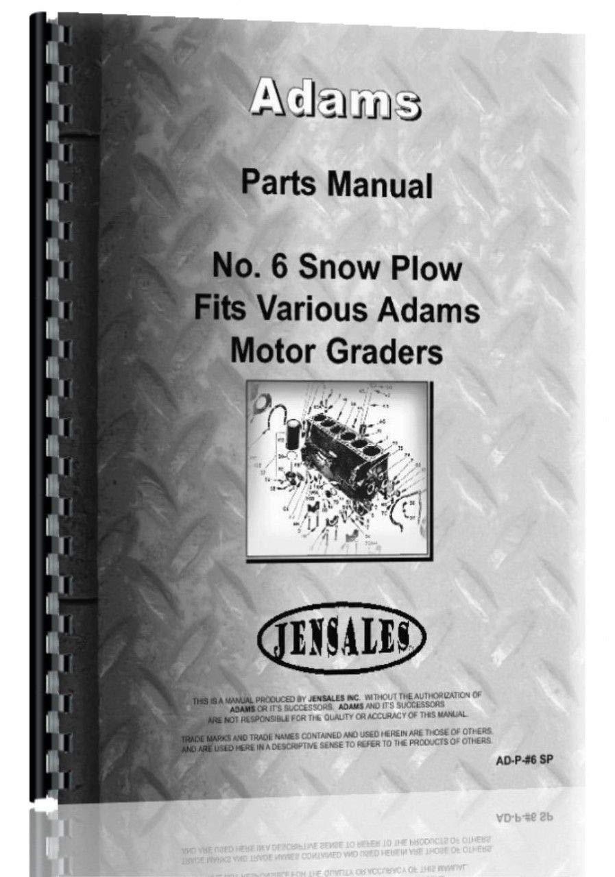Adams 550 Motor Grader #6 Snow Plow Attachment Parts Manual PDF