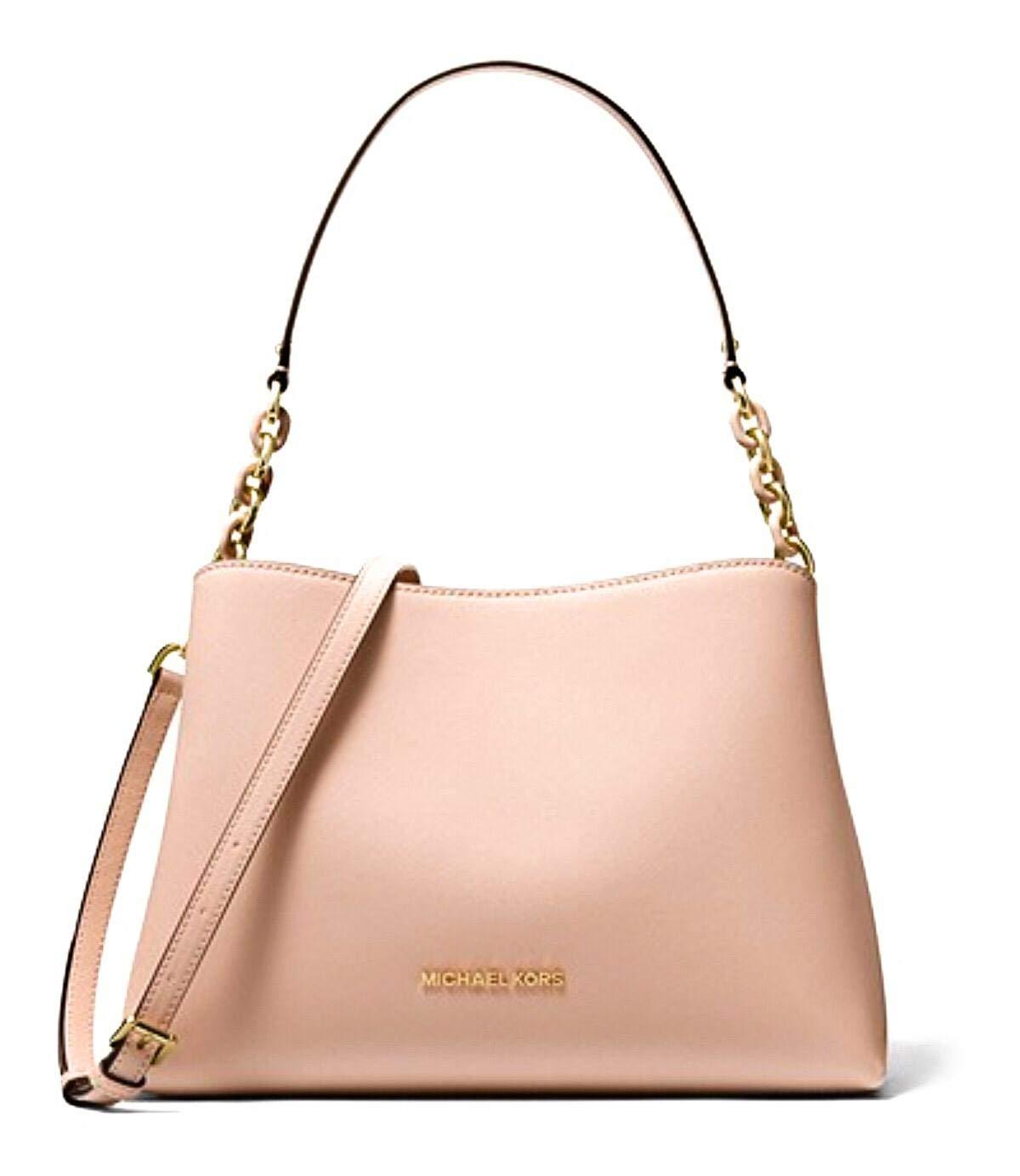 Michael Kors Sofia Large Leather EW Satchel Shoulder Bag (Ballet)