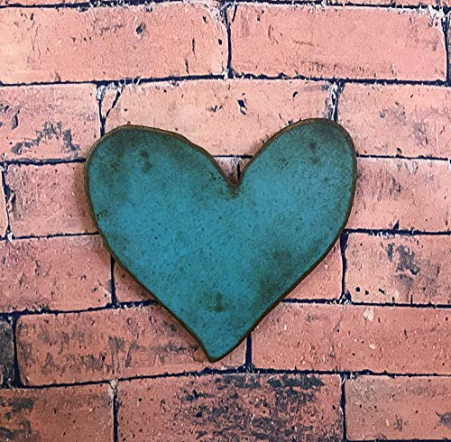 Patina Wall Decor (Heart Symbol - Metal Wall Art Home Decor - Homemade - Choose your Patina Color with Rust - Choose 6.5