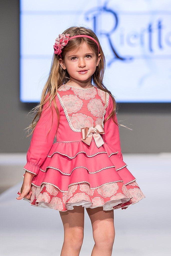 Ricittos - Vestido niña Coral con Volantes (2): Amazon.es: Ropa y accesorios