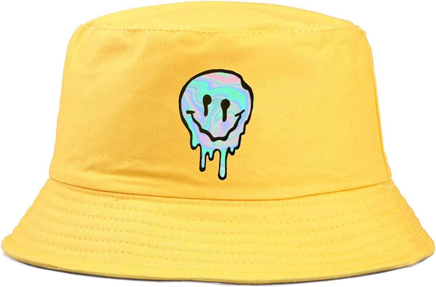 Casual Yellow Funny Smiley Face Fisherman Hat for Women Men Fashion Simple Outdoor Friends Visor Sun Basin Bucket Hats