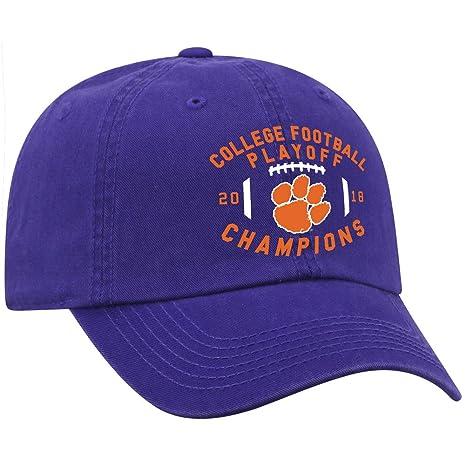 75f2fc2598a Elite Fan Shop Clemson Tigers National Champs Hat 2018-2019 Purple Prime -  Adjustable