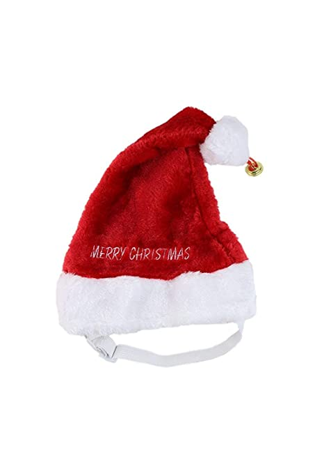 21faee07364 Amazon.com   Midlee Merry Christmas Jingle Bell Dog Santa Hat (Small ...