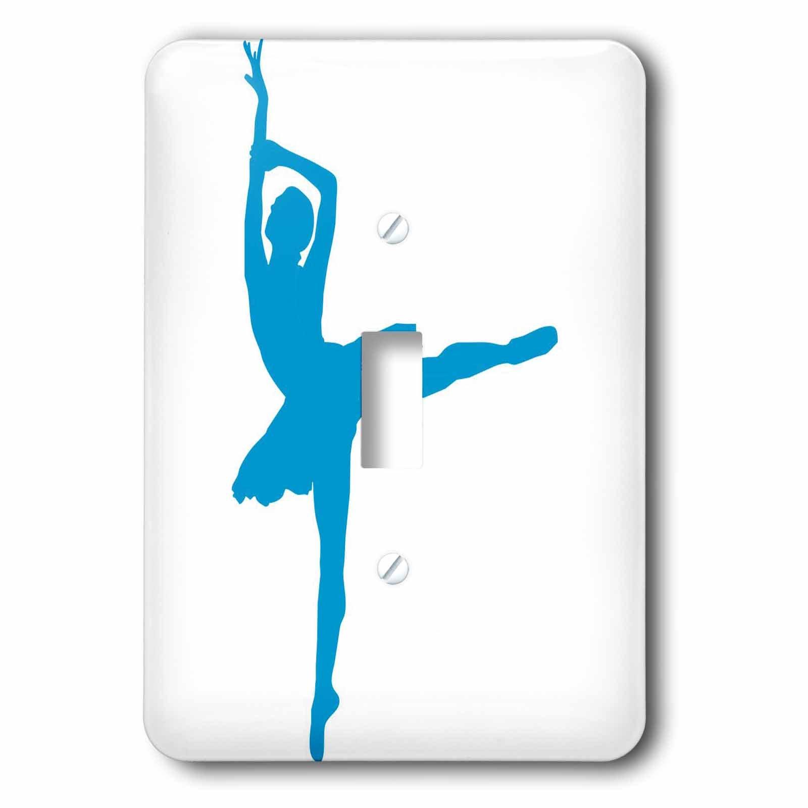3dRose lsp_157840_1 Blue Ballet Dancer Light Switch Cover
