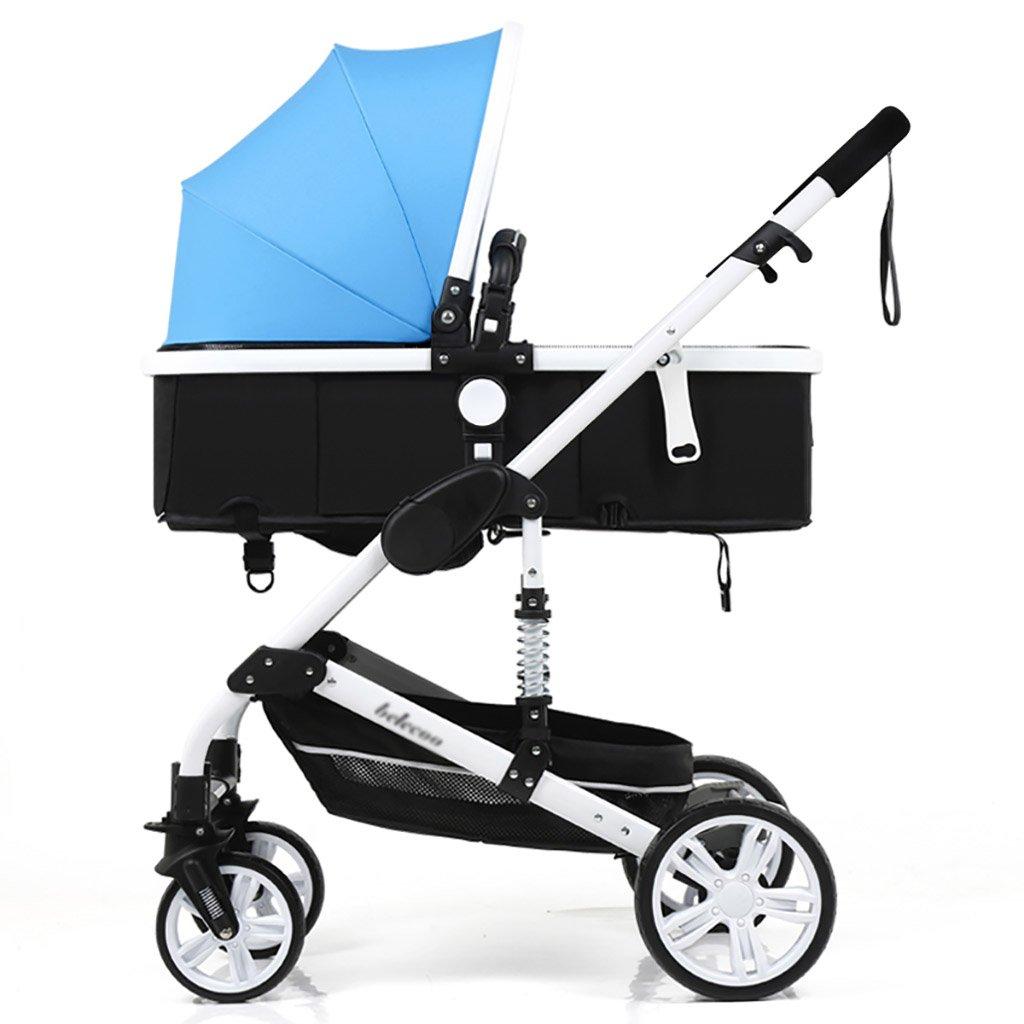 ベビーキャリッジ、折りたたみ自転車ベビーキャリー、ポータブルベビーベビーカー、1ヶ月から4歳までのベビーカーのトロリー、子供の歩行車 (色 : B) B07CWVKT9X B B