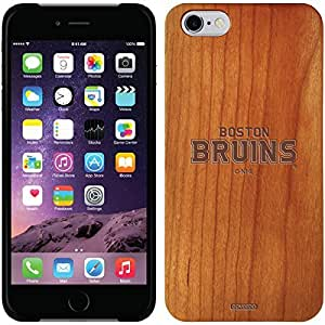 Coveroo iphone 6 4.7 Madera Wood Thinshield Case with Boston Bruins Word Logo 2 Design