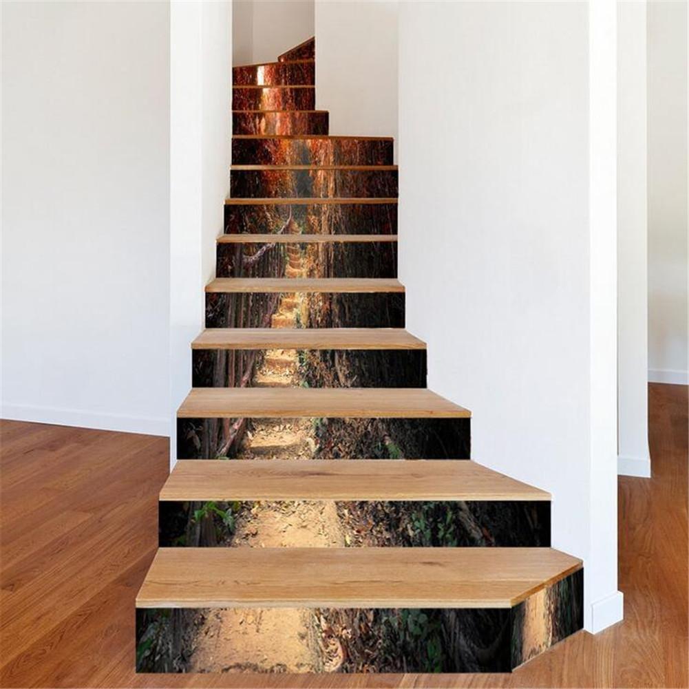 GUOW 3D Treppe Aufkleber Kreative Treppe Aufkleber Aufkleber Tapete ...