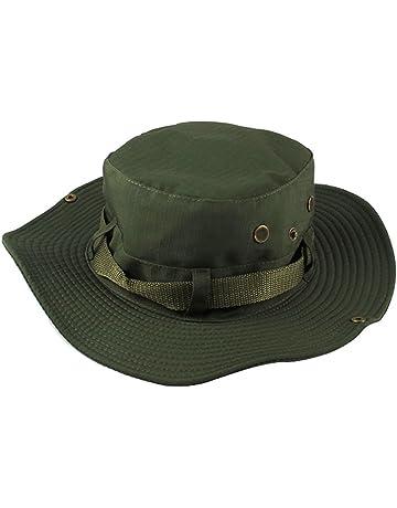 Yithings Cappello Pescatore Uomo Donna Estivo Traspirante Anti UV Tesa  Larga Bucket Hat per Campeggio b03f12cbacf0