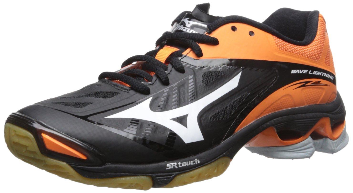 Mizuno Women's Wave Lightning Z2 Volleyball Shoe B01AUPROD0 6 D US|Black/Orange