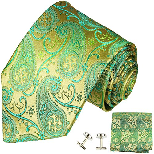Gold Green Cufflinks - 3