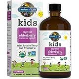 Garden of Life Kids Organic Elderberry Immune Syrup with Vitamin c for Immune Support - Sugar Free Sambucas Elderberry Syrup