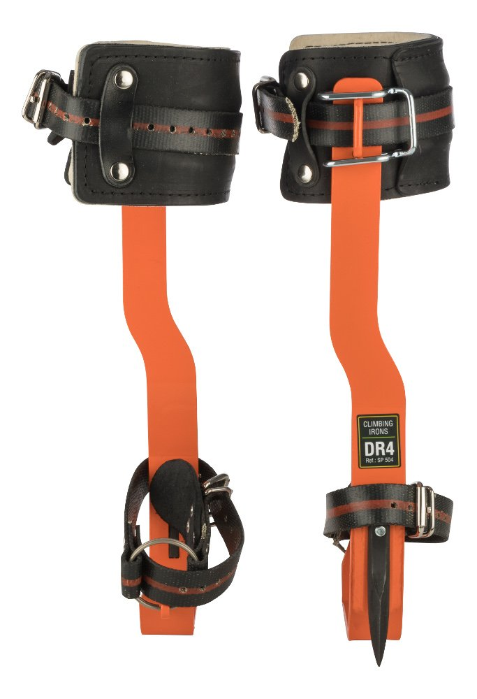 TreeUp Crampons DR-4 Crampons Accrobranche aides Accessoires forestiers (orange)