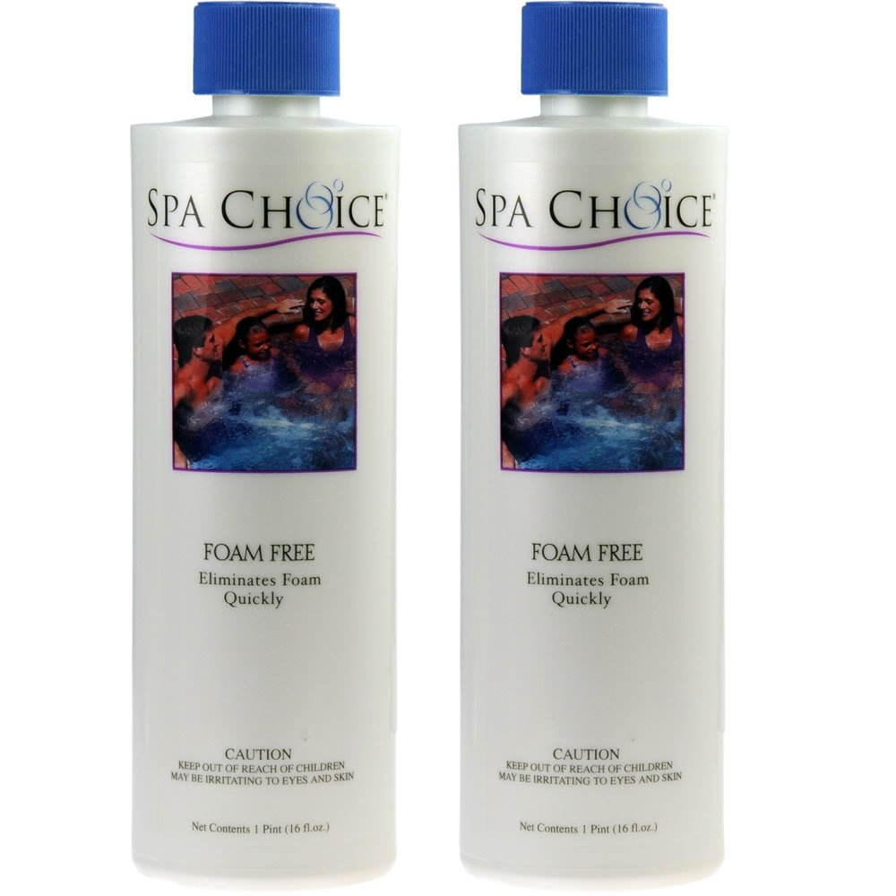 2-Pack Spa Foam Free hot tub defoamer, foam down & away, spas, ponds, fountains - 2 x 16 oz. bottles (32 oz. total)