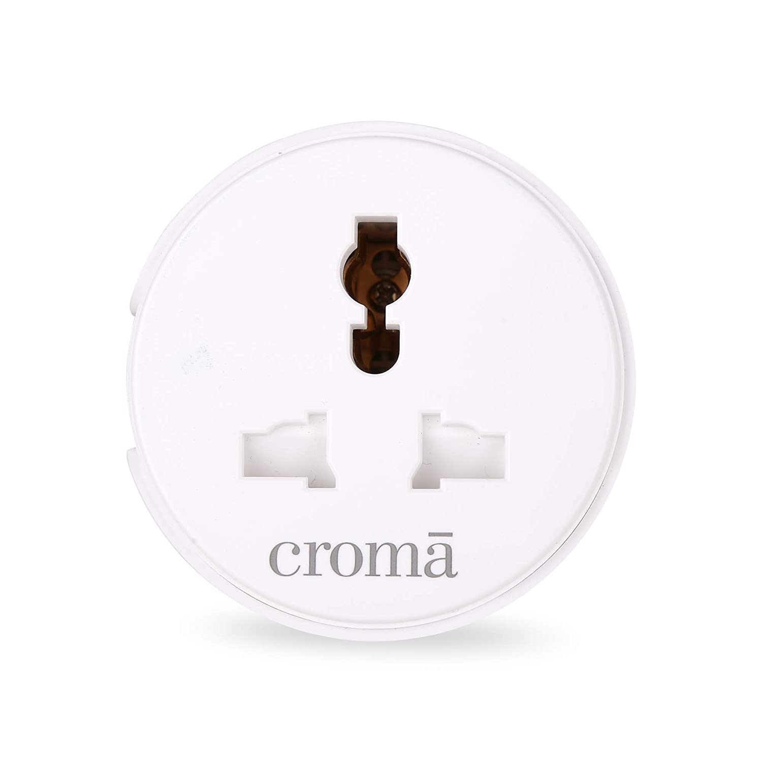 Croma 10A Wi-Fi Smart Plug Alexa & Google Home Compatible, Universal Plug Point for Low Power Devices (CRCP1005, White)