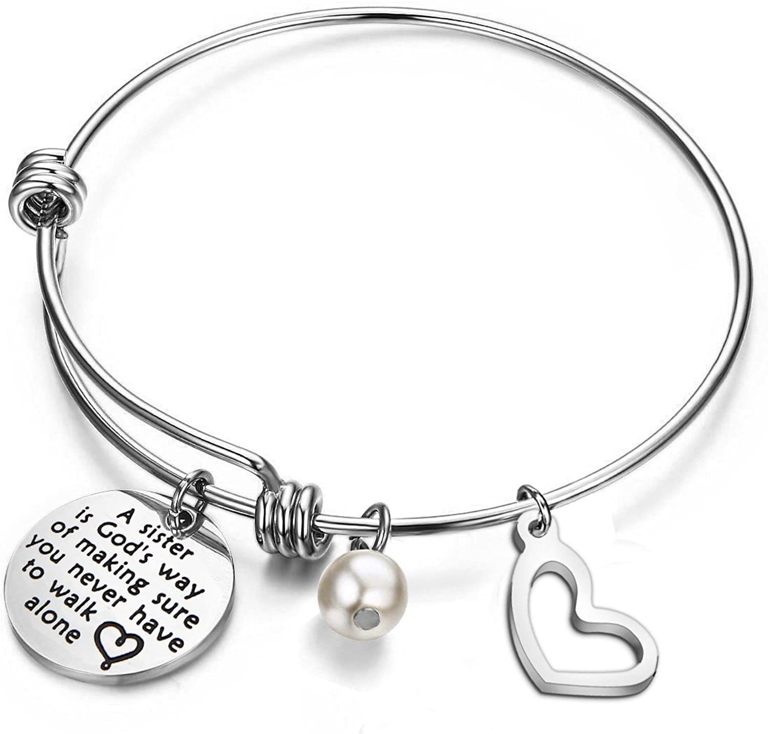 bobauna Sister Bracelet Sister to Sister We Will Always Be A Couple of Nuts Off The Family Tree Gift for Bridesmaid Sister