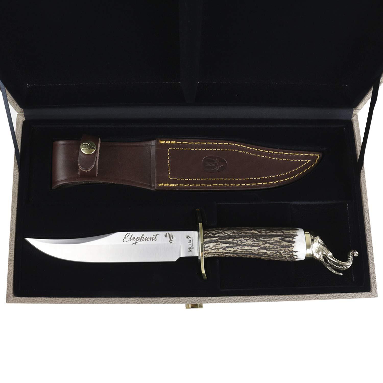 Cuchillo de Caza Muela Big Five Elephant, Hoja de 16 cm de ...