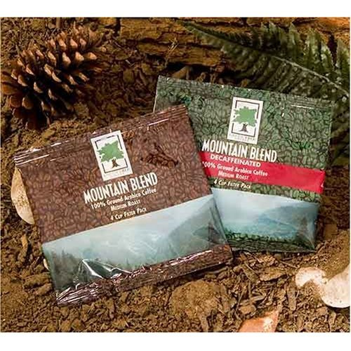 Coffee 4 Cup Filter Pack - Mountain Blend 4 Cup Filter Pack Coffee (Regular), 125 Pack