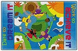 Dare To Dream Colorful Bright Kids Area Rugs (4\'x6\')