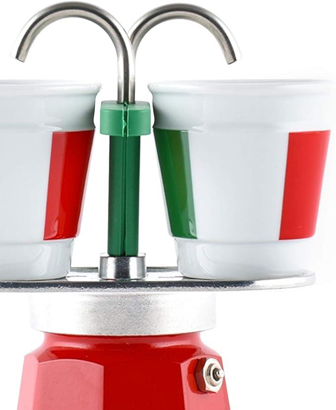Bialetti – 0006196 – Cafetera italiana + 2 tazas Bicchierini Italia Mini Express: Amazon.es: Hogar