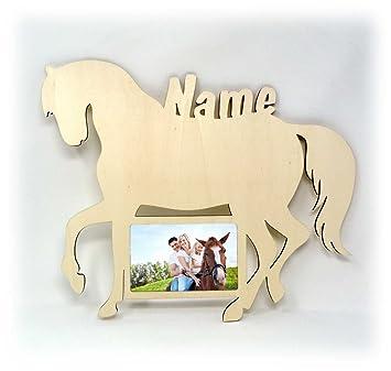 Wand Bilderrahmen Pferd Design Figuren Mit Name Deko Geschenke Fur Madchen Kinderzimmer 10x15 Cm