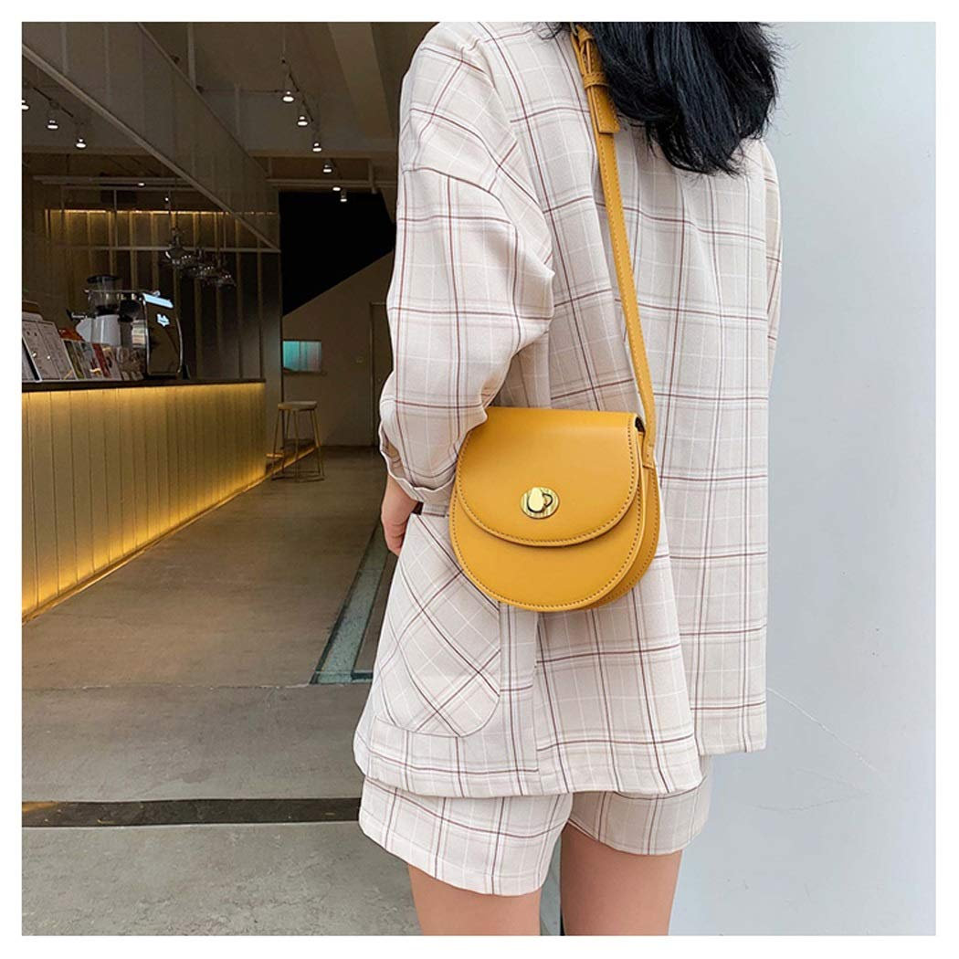 OUSHINA Summer Small Fresh Net Red Packet Wild Natural Messenger Bag Fashion Shoulder Bag Color : Yellow, Size : 1616.56cm