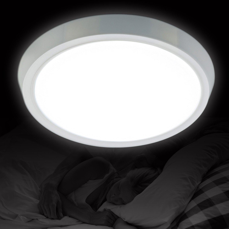 Generic 8' Round 8 Watt White LED Panel Ceiling Downlight/Wall Light w/ White Lampshade YUENSLIGHTING