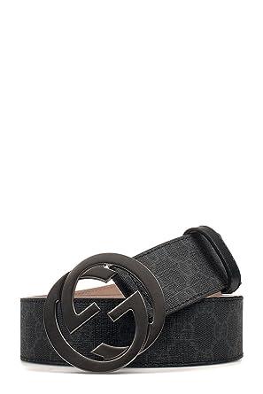 diseño de calidad 56860 7ffeb Gucci Hombre 411924KGDHV1078 Negro Pvc Cinturón: Amazon.es ...