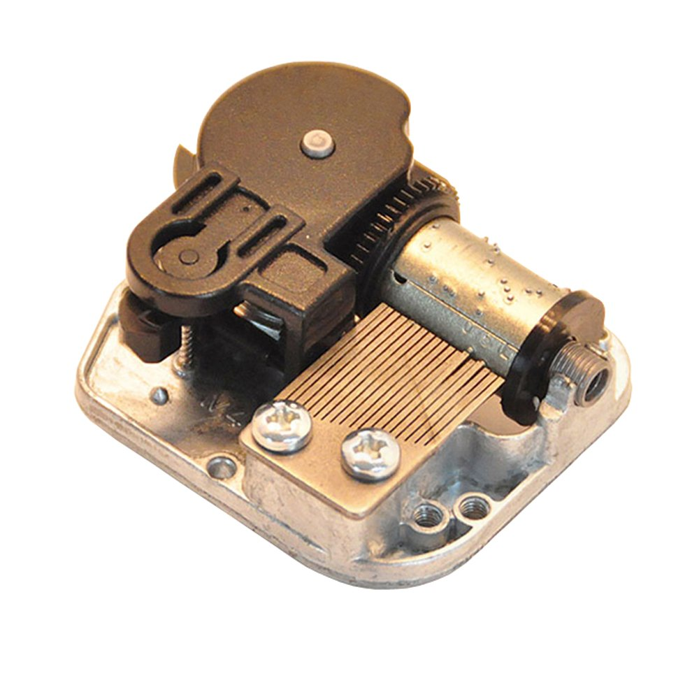 Youtang 18 Note Windup Gold Plating Clockwork Mechanism DIY Music Box Movement,Tune:Over the Rainbow