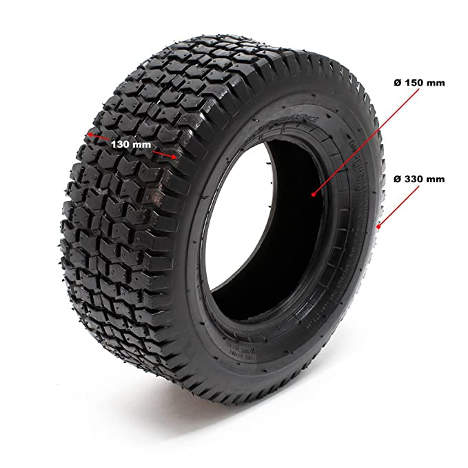 WilTec Neumáticos para segadora de jardín 15x6.00-6 4pr con cámara ...