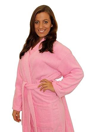 Terry Cloth Robe TowelRobes 100% Cotton Kimono Adult Unisex Bathrobe for  Women and Men( 452848a2b