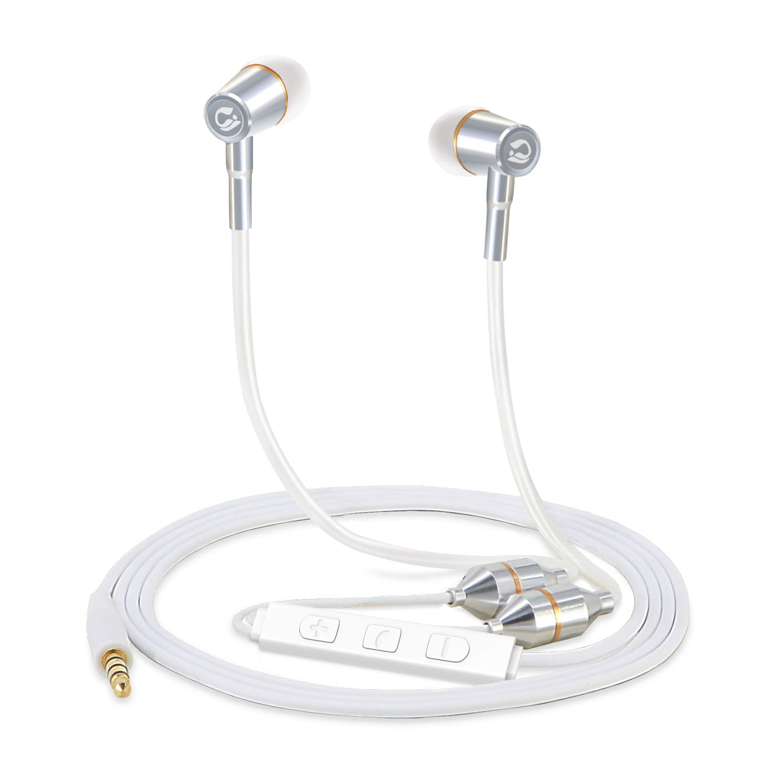 410e51a601b Tuisy Air Tube Headset - Upgraded Radiation Free Headphones Earbuds Earphone  with Microphone and Volume Control, EMF Protection, Universal for iPhone ...