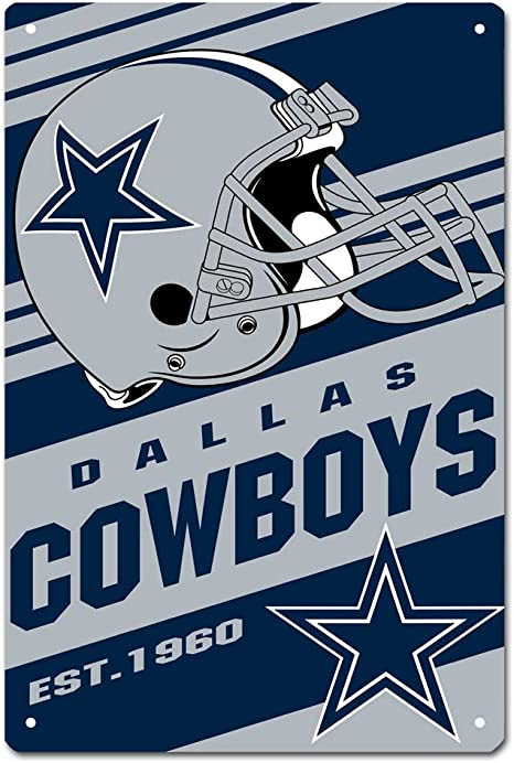 Kittymacy Dallas Cowboys Cool American Football Team Design Metal Tin Signs For Home Wall Decor Size 12 X 8 Inches Amazon Co Uk Kitchen Home,3d Logo Design For Construction Company