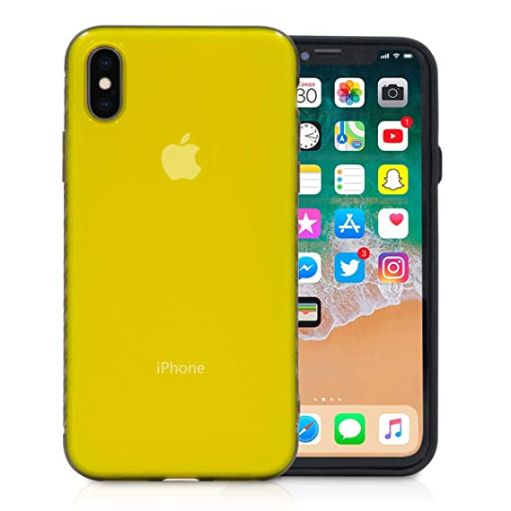 buy online 58b25 a7b38 iPhone X Case, Buruis Slim Fit Shell Hybrid Hard PC Back Cover with TPU  Bumper, Anti Slip Matte Finish Coating Grip Protective Case for Apple  iPhone ...