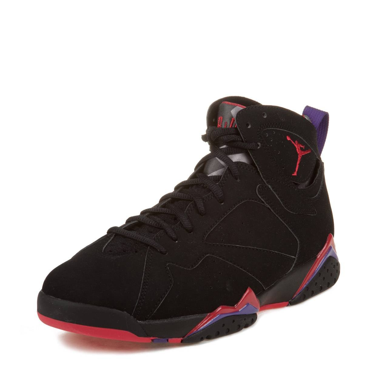 pretty nice e50c9 4d842 Amazon.com   Nike Mens Air Jordan 7 Retro Raptor Black True Red-Dark  Charcoal-Purple Leather Basketball Shoes Size 10.5   Basketball