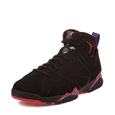 5de9ac64b5e2af Image Unavailable. Image not available for. Color  Nike Mens Air Jordan 7  Retro Raptor Black True Red-Dark Charcoal-Purple