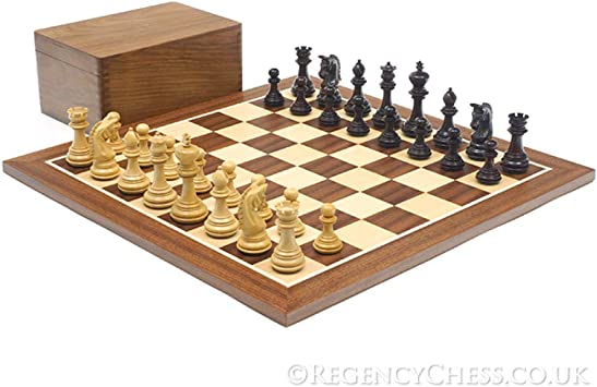 The Imperial Knight Rosewood Mahogany Chess Set