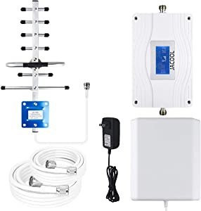 Verizon AT&T Cell Phone Signal Booster Tri-Band 700MHz/ 850MHz Band 5/12/ 13/17 Mobile Signal Booster FDD 3G 4G LTE Cell Phone Booster Repeater Amplifier for Home Verizon AT&T T-Mobile US Cellular