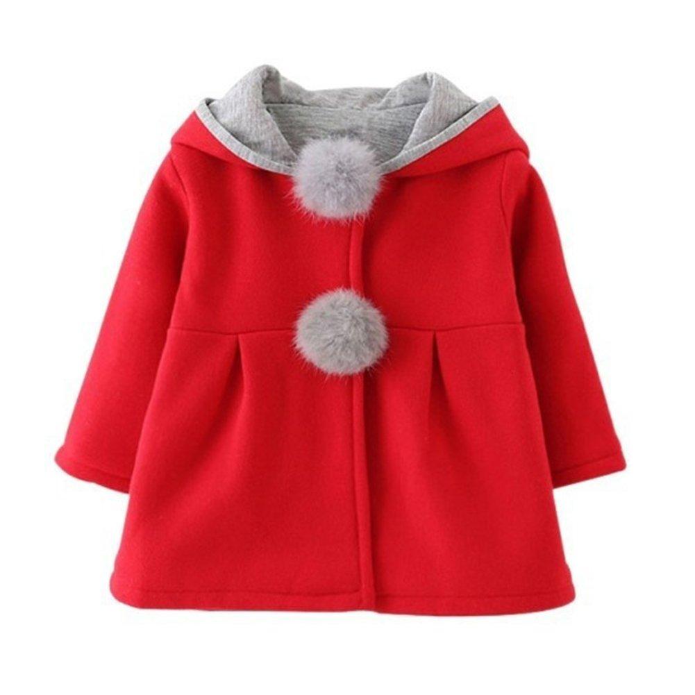 052007e5dbe6 Gemini mall Baby Girls Cute Rabbit Ears Cloak Hooded Autumn Winter ...