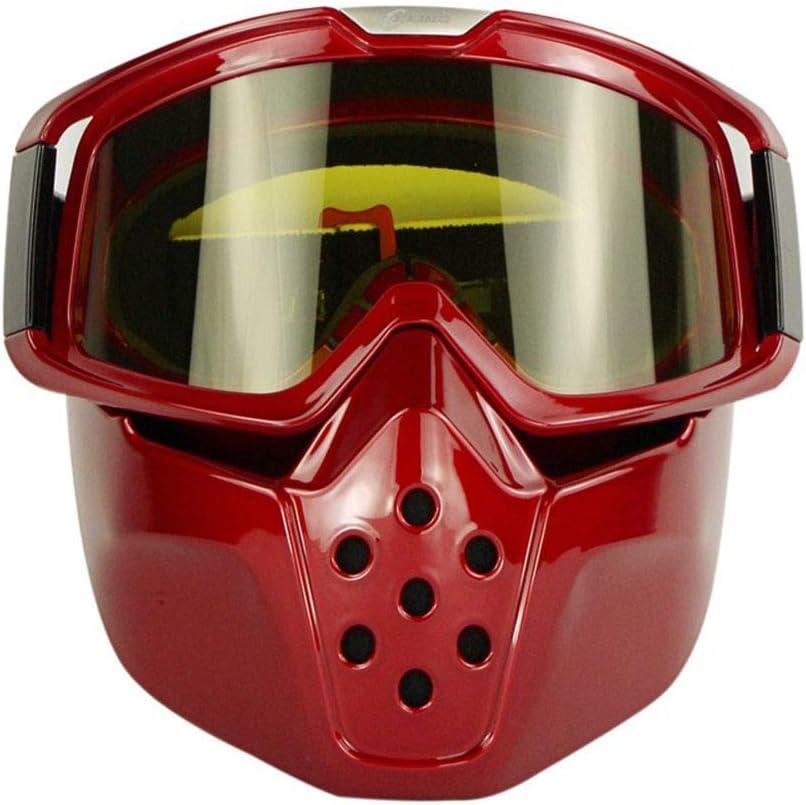 YD Esquí Mascaras y Gafas Snowboarding Motos de Nieve Deportes de Invierno Hombres y Mujeres Gafas de Nieve Motocicletas Fuera del Camino Máscara Gafas de protección Montar Harley Máscara extraíble
