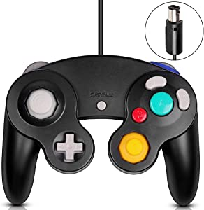 VOYEE Gamecube Controller, Classic Wired Controller Gamepad for Wii Nintendo Gamecube (Black)
