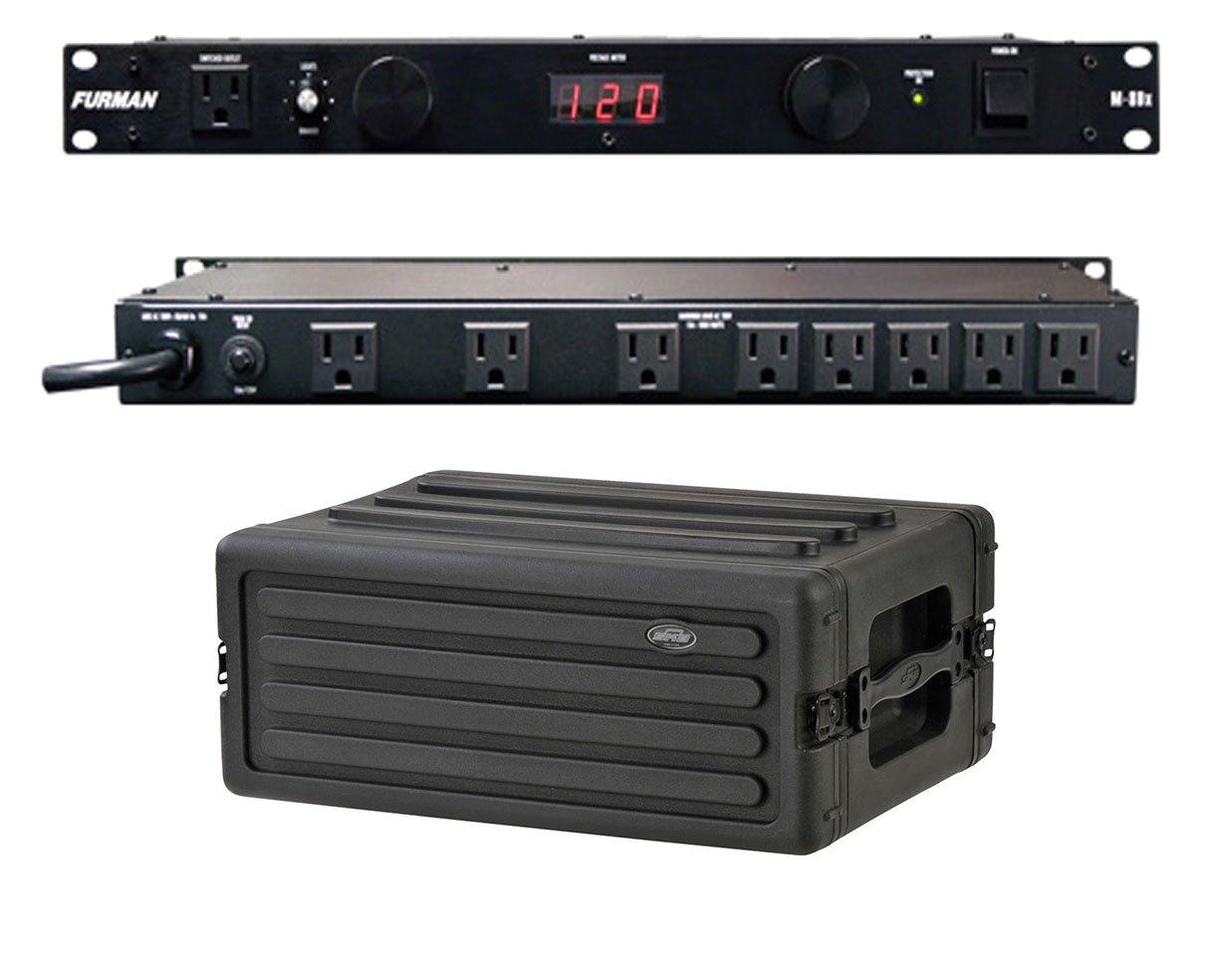Furman M-8Dx 15 Amp Power Conditioner + SKB 1SKB-R4S 4U Shallow Rack