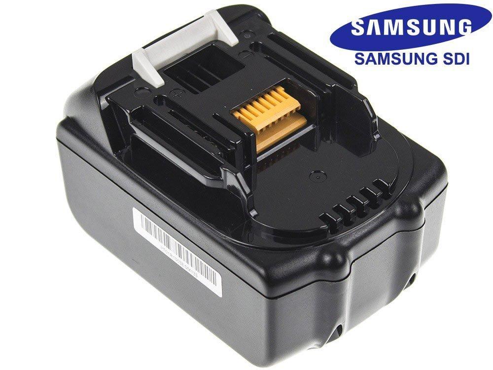 verde Cell® Utensili Elettrici Batteria per Makita DCG180RMX (Samsung Li-Ion pile 3000 mAh 18V)