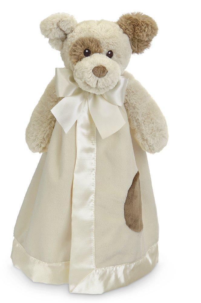 Bearington Baby Lil' Spot Snuggler, Puppy Dog Plush Stuffed Animal Security Blanket, Lovey 15''