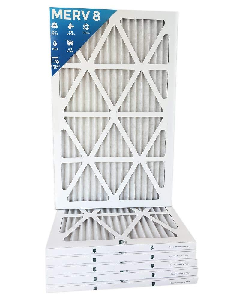 12 PACK 10x20x1 Merv 8 Pleated AC Furnace Air Filters