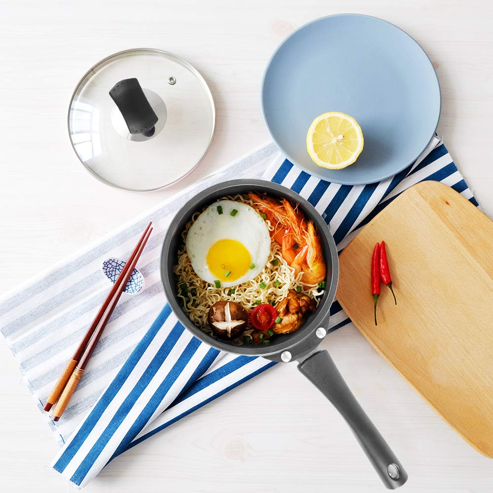 Greendi YMX8318 Hard-Anodized Aluminum Nonstick Cookware Braisers 3-Quart Round Covered Casserole with Handle and Lid Black Guangdong Greendi Household Intelligence Technology Co LTD