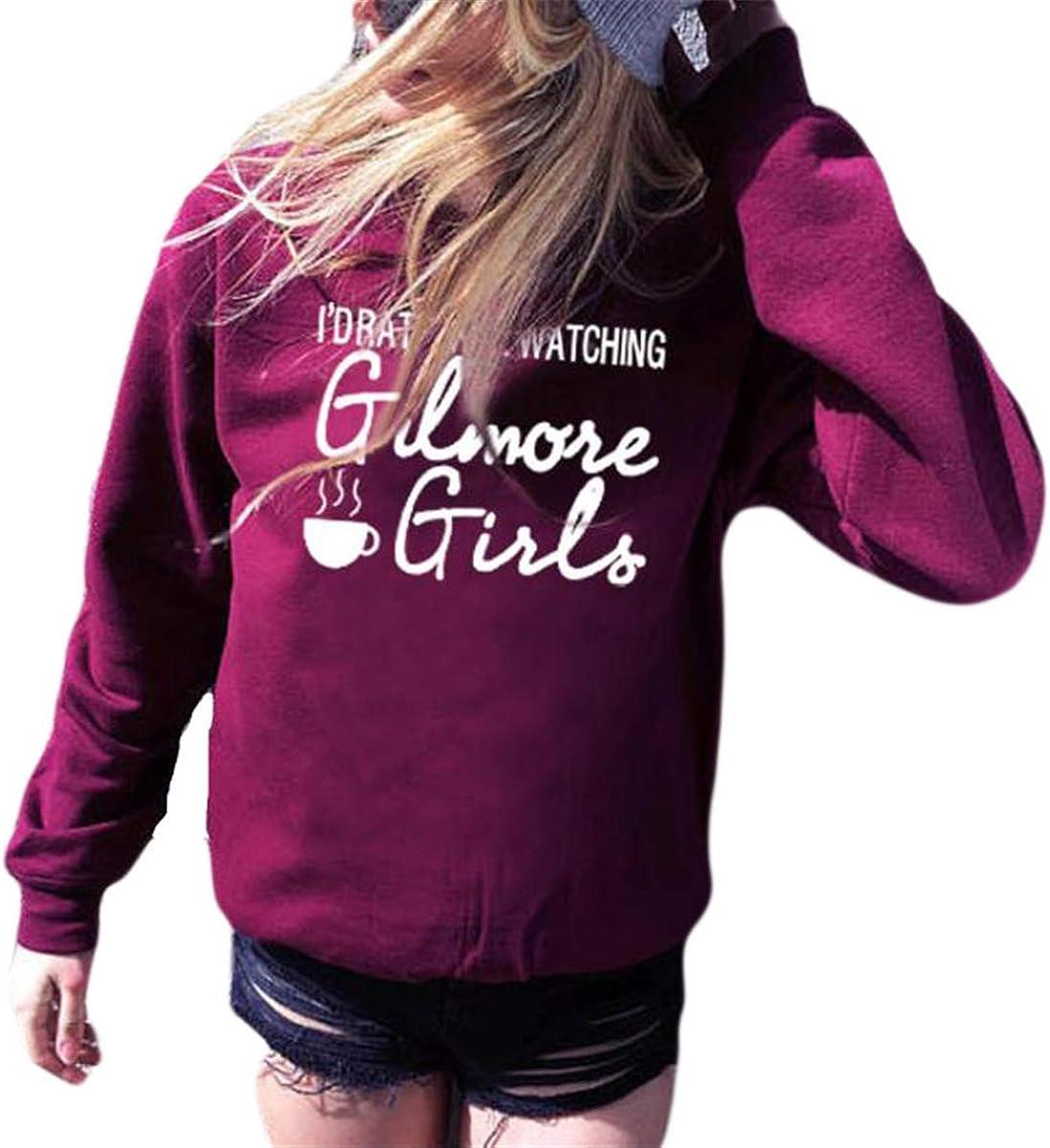 FCYOSO Women Id Rather Be Watching Gilmore Long Sleeve Graphic Sweatshirt