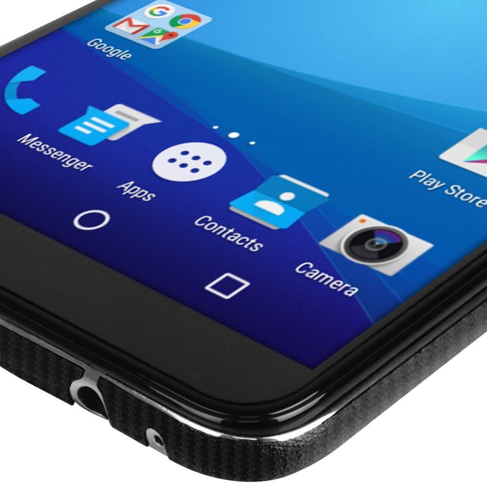 Skinomi TechSkin Carbon Fiber Skin for Blu Vivo Xl3 with Anti-Bubble Clear Film Screen Carbon Fiber Full Body Blu Vivo Xl3 Screen Protector