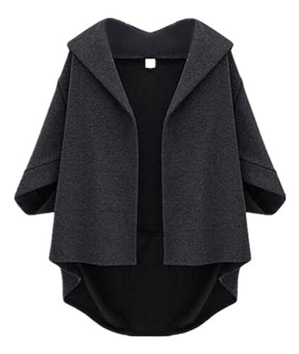 Aoliait Outwear Mujeres De 3/4 Mangas De Murciélago Top Casual Coat Moda Elegantes Abrigos