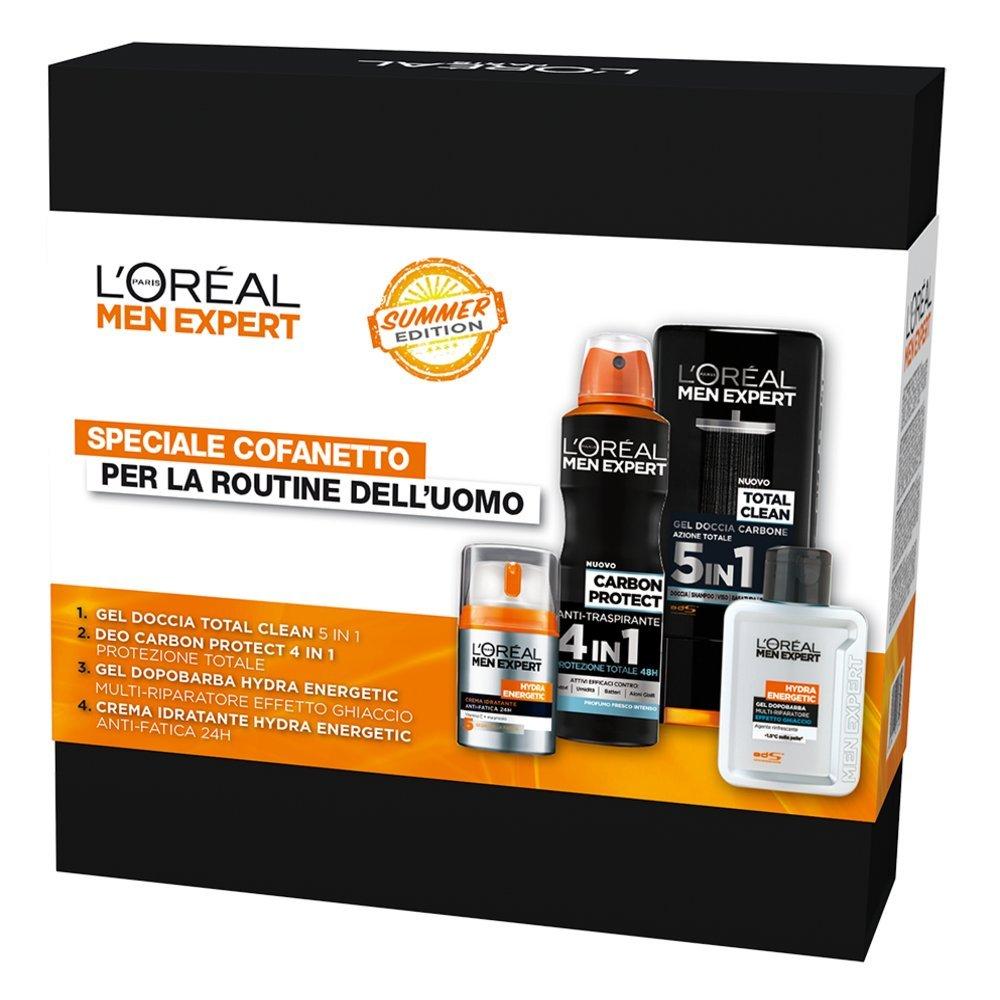 L'Oréal Paris Men Expert Cofanetto Uomo Edizione Limitata per la Routine Estiva, Crema Idratante, Balsamo Dopobarba, Spray Deodorante e Bagnodoccia L' Oréal Paris ZIT32660